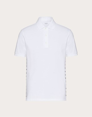 Valentino Rockstud Untitled Polo Shirt Man White Cotton 100% M