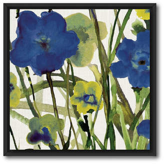 """Courtside Market Picking Flowers I 18"""" x 18"""" Canvas Wall Art with Float Moulding"""