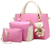 Longzibog PU Fashion Simple Style Fashion Tote Top Handle Shoulder Cross Body Bag Satchel
