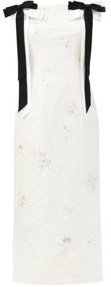 Erdem Angelique Crystal-embellished Chantilly-lace Dress - Ivory