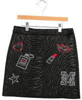 MSGM Girls' Embellished Patterned Skirt w/ Tags