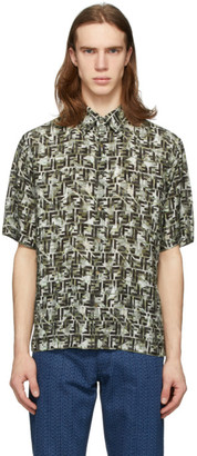 Fendi Green Camo Forever Short Sleeve Shirt