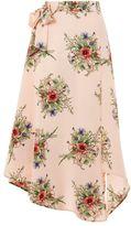 Tall floral wrap skirt