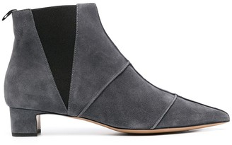Emporio Armani Panelled Pointed Toe Ankle Boots