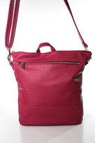 Neiman Marcus Pink Coated Canvas Gold Tone Full Zipper Back Pack Handbag