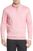 Peter Millar Regular Fit Cotton & Cashmere Quarter Zip Sweater