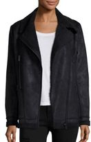 The Kooples Faux Shearling Moto Jacket