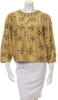 Jenny Packham Silk Embellished Blouse w/ Tags