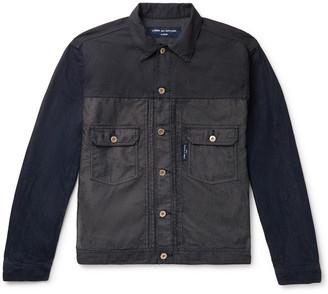 Comme Des Garçons Homme Garment-Dyed Panelled Denim Trucker Jacket
