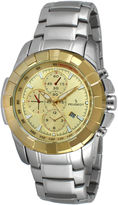 Peugeot Men's Silver Tone Yellow Dial Calendar Bracelet Watch 1044C