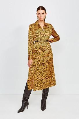 Karen Millen Silk Printed Shirt Dress