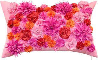 Edie@Homeedie Floral Bouquet Indoor/Outdoor Decorative Lumbar Pillow