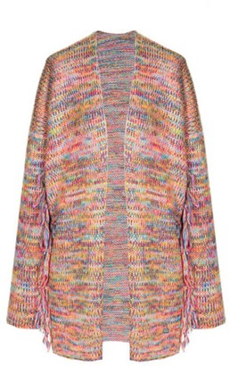 You By Tokarska Frida Fringed Cardigan Multicolour Yellow