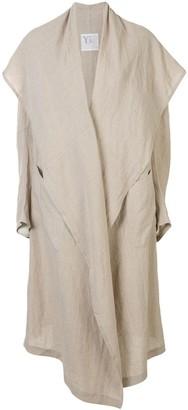 Y's Oversized Linen Coat