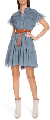 Isabel Marant Atoile Lanikaye Ruffle Pleated Shirtdress