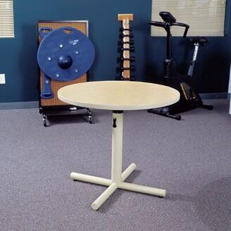 "Progression 36"" Round Table Populas Furniture Tabletop Finish: Urban Walnut"