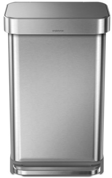 Simplehuman Brushed Stainless Steel 45L Step Trash Can