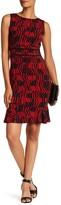Taylor Matchstick Print Jersey Sheath Dress