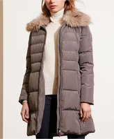 Lauren Ralph Lauren Faux-Fur-Trim Quilted Down Coat