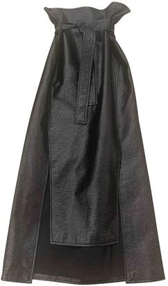 Awake Black Patent leather Skirt for Women