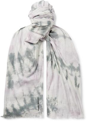 Isabel Marant Dresley Tie-Dyed Cotton-Gauze Scarf