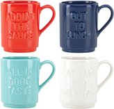 Kate Spade All in Good Taste Words Stackable Mug - Assorted - 4 ct