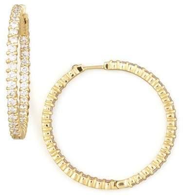 Roberto Coin 38mm Yellow Gold Diamond Hoop Earrings, 2.46ct
