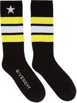 Givenchy Black Stripes and Star Socks