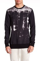Helmut Lang Crew Neck Long Sleeve Print Sweatshirt