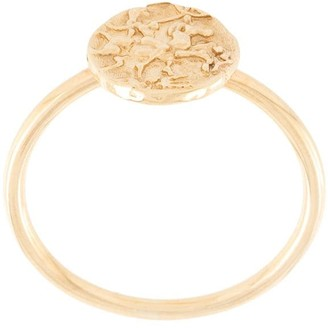 NATASHA SCHWEITZER 9kt Yellow Gold Mini Coin Ring