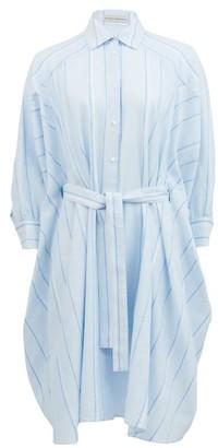 Palmer Harding Palmer//harding - Poet Striped Cotton-blend Shirt Dress - Light Blue