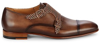 Mezlan Pandora Houndstooth Monk-Strap Shoes