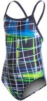 Speedo Youth PowerFlex Eco Laser Sticks Pulse Back One Piece Swimsuit 8146413