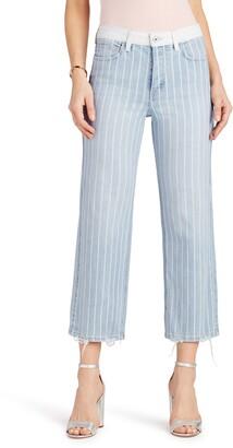 Sam Edelman The Chelsea Stripe Wide Leg Crop Jeans