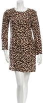 Steven Alan Silk Leopard Print Dress