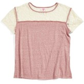 Hip Girl's Lace Trim Tee