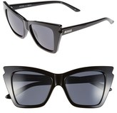 Le Specs Women's 'Rapture' 55Mm Bat Wing Sunglasses - Black
