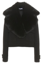 Altuzarra Fur-trimmed Wool Crepe Jacket