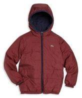 Lacoste Little Boy's & Boy's Reversible Puffer Coat