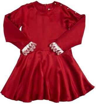 Chloé Embellished Silk Satin Party Dress