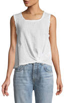 Splendid Knot-Front Cropped Tank Top
