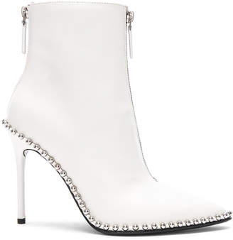 Alexander Wang Leather Eri Boots in White Leather | FWRD