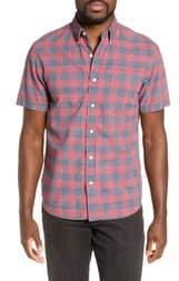 Faherty Rose Regular Fit Buffalo Check Organic Cotton Shirt