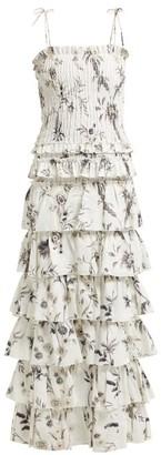 Sir - Marele Floral-print Maxi Dress - Womens - White Multi