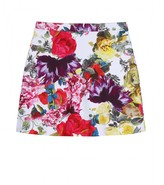 RILEY HIGH-WASTED FLORAL PRINTED SKIRT