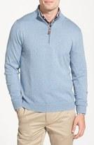 Nordstrom Half Zip Cotton & Cashmere Pullover (Regular & Tall)