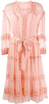 Ulla Johnson silk frill-trim midi dress