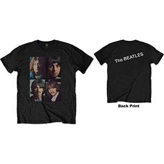 The Beatles Men's White Album Faces (Back Print) T-Shirt,X (Size:)