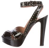 Alaia Patent Leather Multistrap Sandals