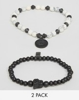 ICON BRAND Beaded Bracelets In 2 Pack